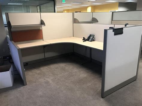 used office cubicles allsteel 8x7 workstations at