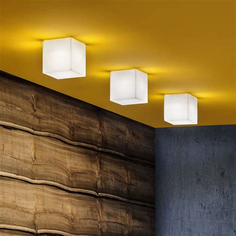 Cube Ceiling Lights Beetle Cube Ceiling L With Polycarbonate Lshade Different Colours And Sizes Available