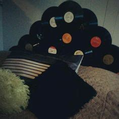 record headboard master on pinterest vinyl records closet and music decor