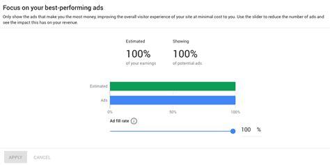 adsense balance google adsense launches ad balance slider to show less ads