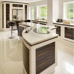 Curved Kitchen Islands Modern Curved Kitchen Island Images