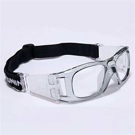 wrap around basketball sport goggles for clear pc lens