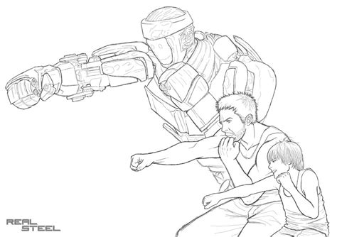 noisy boy coloring page real steel noisy boy coloring pages www pixshark com