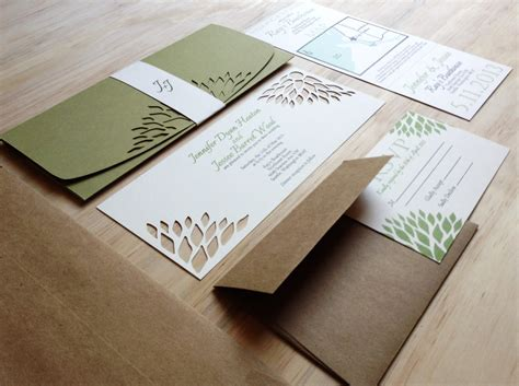 Wedding Handmade Invitations - simple elegance wedding invitation handmade wedding