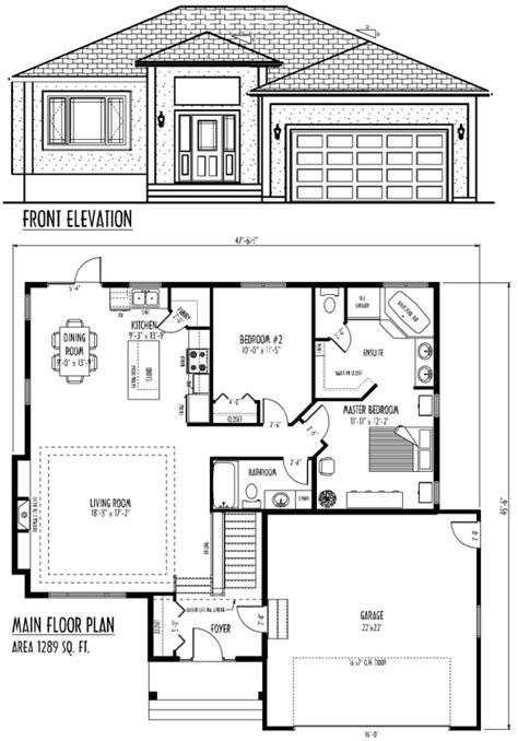 Bungalow Floor Plans With Attached Garage 1929 Craftsman Floor Plans Bungalow Attached Garage