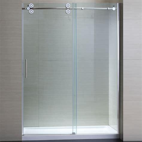glass shower doors at lowes bathroom amazing frameless glass sliding doors shower