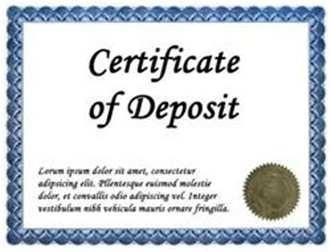 certificate of deposit template top 10 low risk investments you shouldn t be afraid of