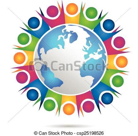 Vector Teamwork Happy People Logo Vector Teamwork Of Happy People Concept Of Community Workers Unity Logo Communication Logo