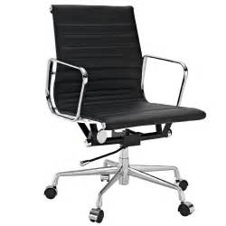 ribbed back eames aluminum office chair modern mid