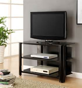 glass tv stands innovex black glass tv stand tpt42g29