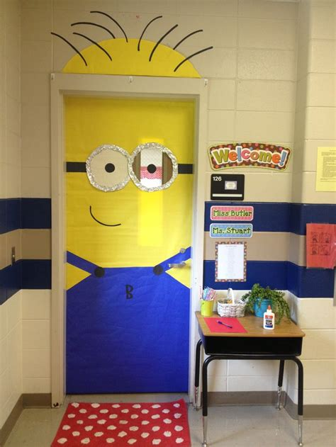 Minion Door Decoration by Despicable Me Minion Classroom Door Crafts For