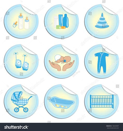 baby stuff for boys set of newborn baby stuff stickers for baby boy in doodles