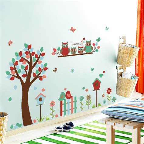 owl tree wall stickers family owl tree wall stickers wall stickers for
