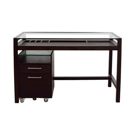 wooden office desk with glass top black wood desk hostgarcia