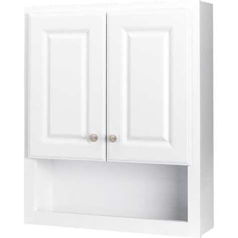 style selections            white bathroom wall cabinet  lowescom