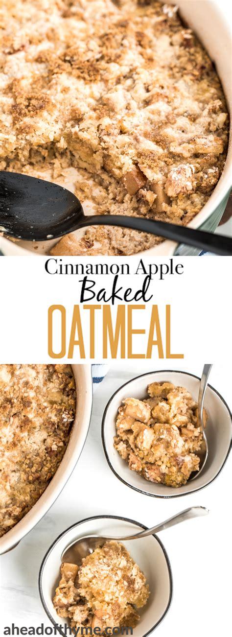 Cinnamon And Walnut Porridge Ahead Of Thyme by Cinnamon Apple Baked Oatmeal Ahead Of Thyme