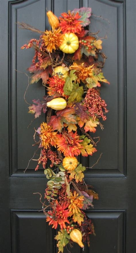 autumn harvest door swag autumn pinterest