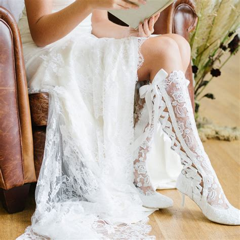 Wedding Booties For by Vintage Lace Wedding Boots And Shoes House Of Elliot