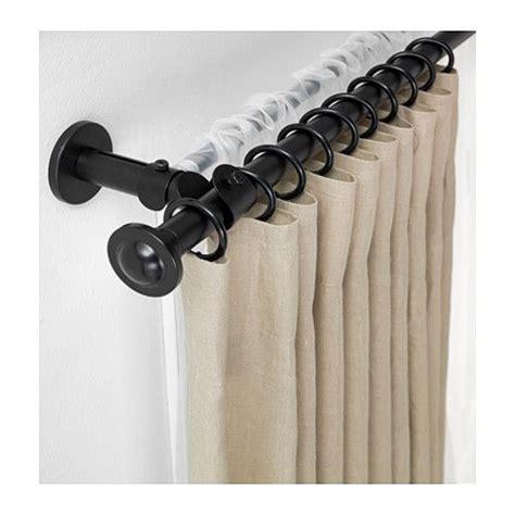 ikea gardinenstange doppelt storslagen gardinenstangen set doppelt schwarz haus