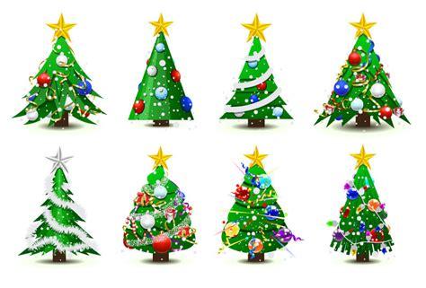 free vector がらくた素材庫 数種類のクリスマス ツリー abstract christmas tree