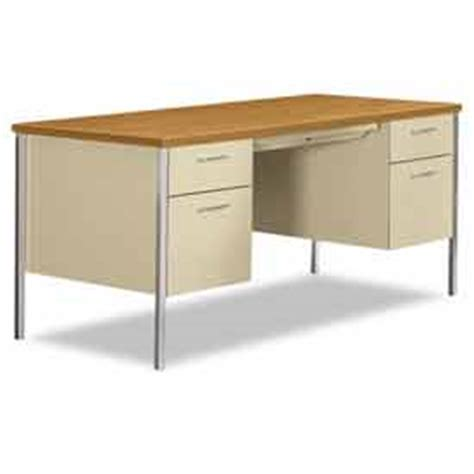 desks steel desks hon 174 steel desk pedestal