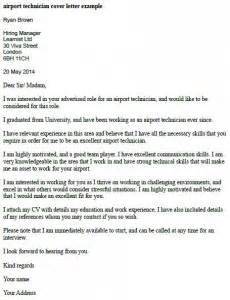 Airport R Cover Letter by Airport Technician Cover Letter Exle Learnist Org