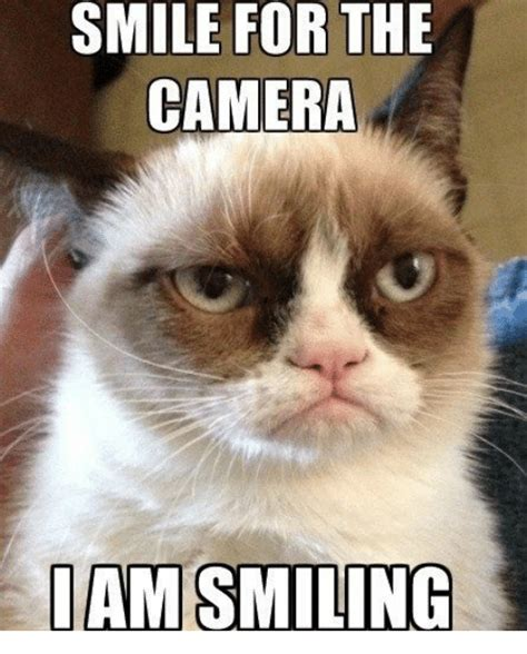 Camera Meme - smile for the camera i am smiling meme on me me