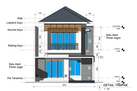desain gambar online shop desain rumah 2 lantai ukuran 8 x 15 m2 desain rumah online