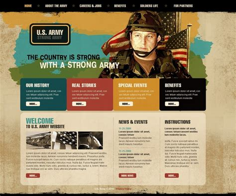 army website template 29060