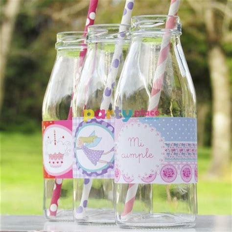 decorar vasos con tapa botellita lechera o juguera de vidrio con tapa