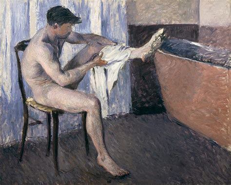 Cuban Home Decor man drying his leg painting by gustave caillebotte