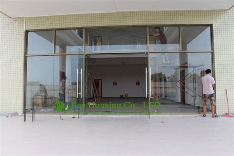 exterior frameless glass doors china manufacturer commercial exterior commercial