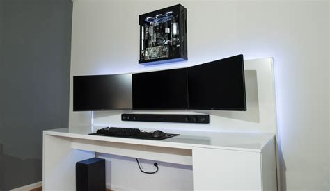 envy front desk salary 27 quot 1440p w wall mounted pc battlestations