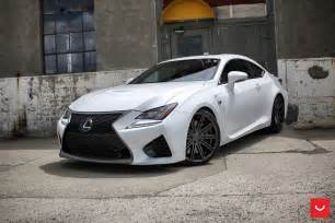 Lexus Rcf White White Lexus Rcf On Vossen Wheels Has The Look Of A Cult