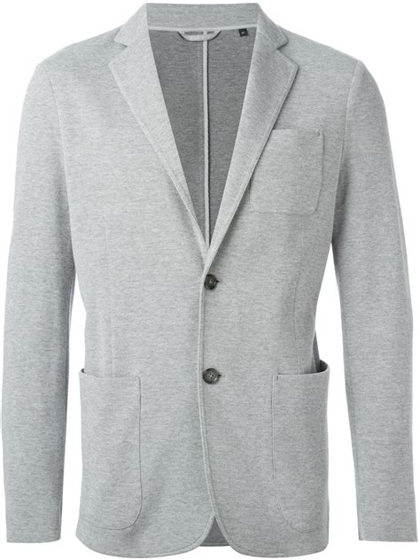 Blazer Casual Gray List z zegna fitted casual blazer in gray for grey lyst