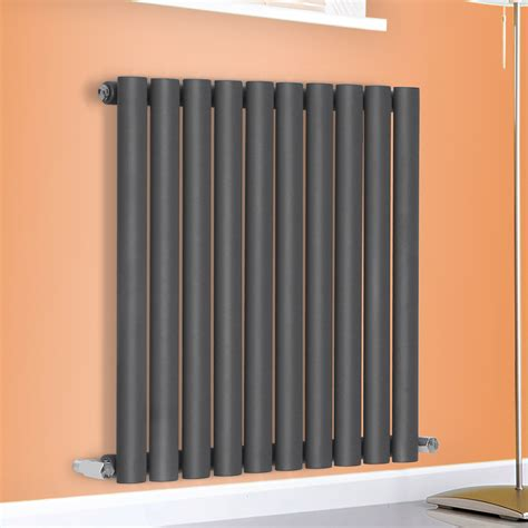 Modern Bathroom Radiators Anthracite Oval Column Panel Designer Modern Bathroom Central Heating Radiator Ebay