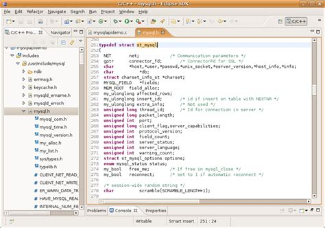 tutorial c mysql mysql developing mysql applications with eclipse cdt