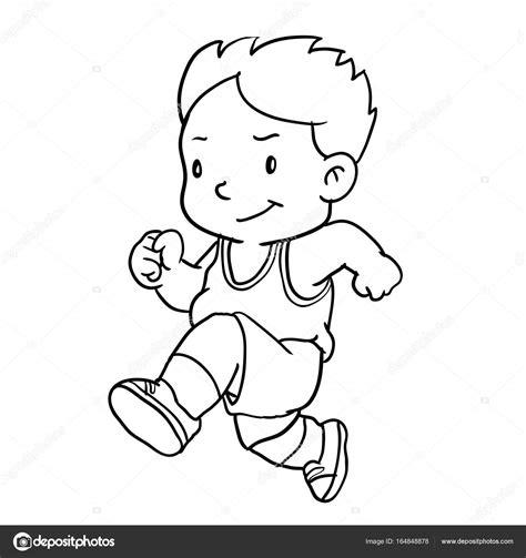 imagenes niños corriendo dibujo de ni 241 o de la mano corriendo ilustraci 243 n