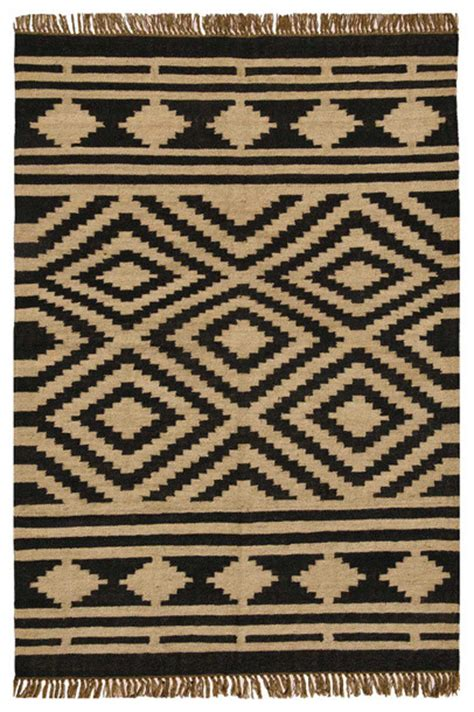 jute and wool area rugs sai resources llc handwoven jute and wool stripe rug beige and black reviews houzz