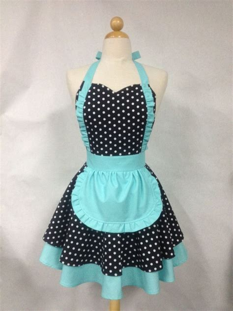 pattern for maids apron french maid apron polka dot with aqua retro full apron