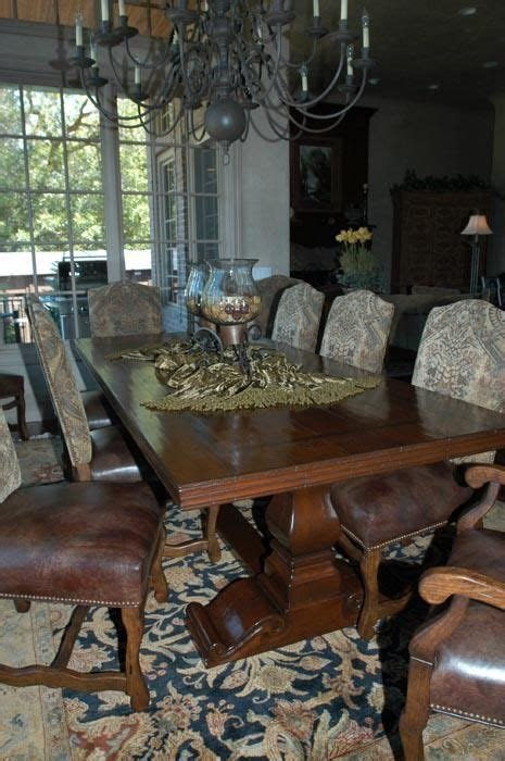 handmade tuscan dining table by leaf design llc