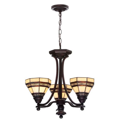rubbed bronze chandelier lighting hammered glass