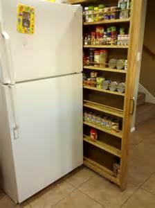 Small Kitchen Redo Ideas narrow cupboards on pinterest fridge storage small