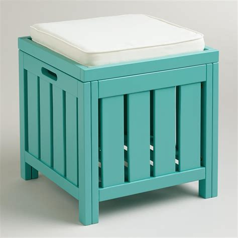 Storage Stool by Baltic Blue Storage Stool World Market