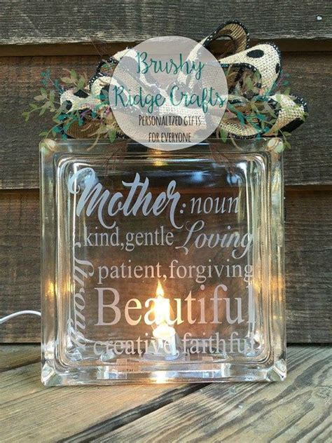 Etched Vinyl Definition - s day gift etched glass block by brushyridgecrafts