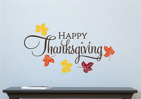 4 Letter Words Happy happy thanksgiving leaves fall autumn decor vinyl decal