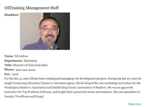 employee biography template create a staff directory listing in drupal 7