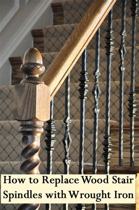 replacing banister spindles how to replace half wall with railings joy studio design