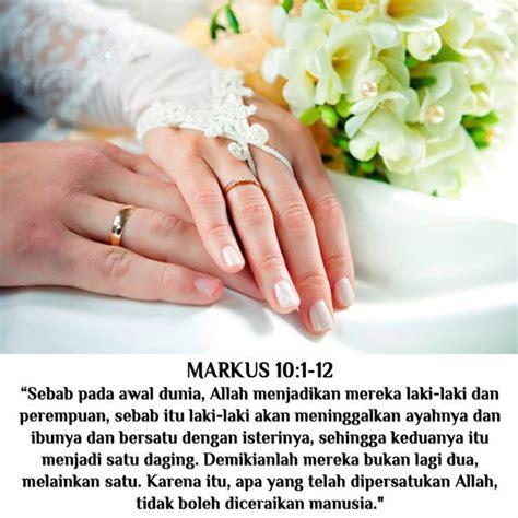 pernikahan bersifat kekal  tak terceraikan renungan