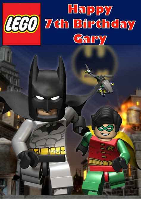 personalised lego batman birthday card